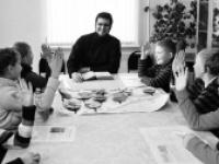 Молитва в семейном кругу